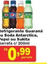 Oferta de Refrigerante de cola Pepsi 200 ml por R$0,99