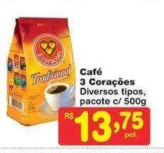 Oferta de Café 3 Corações por R$13,75