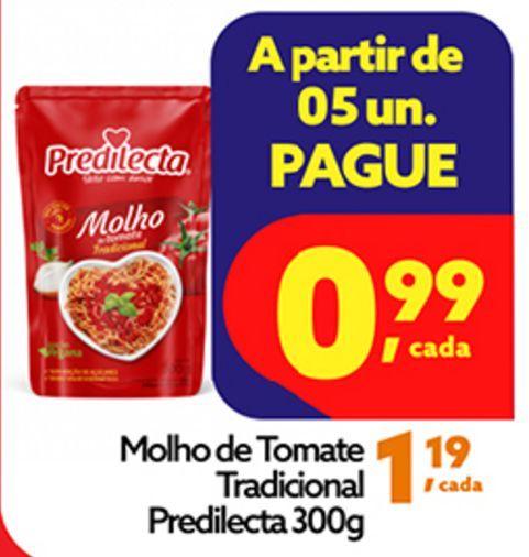 Oferta de Molho de Tomate Predilecta tradicional 300g por R$0,99