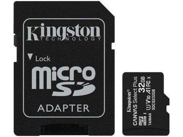 Oferta de Cartão de Memória 32GB Micro SD Kingston 10 com Adaptador ... por R$118