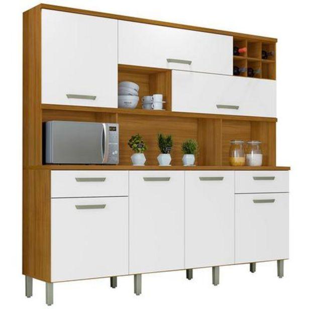 Oferta de Armário de Cozinha 7 Portas 2 Gavetas Master Nesher Móveis... por R$1499