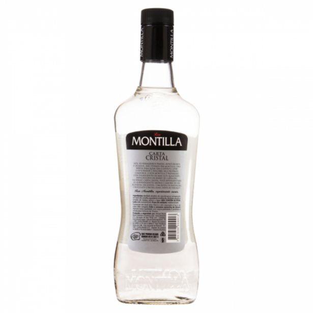Oferta de Rum Brasileiro Carta Cristal Montilla Garrafa 700ml por R$18,99