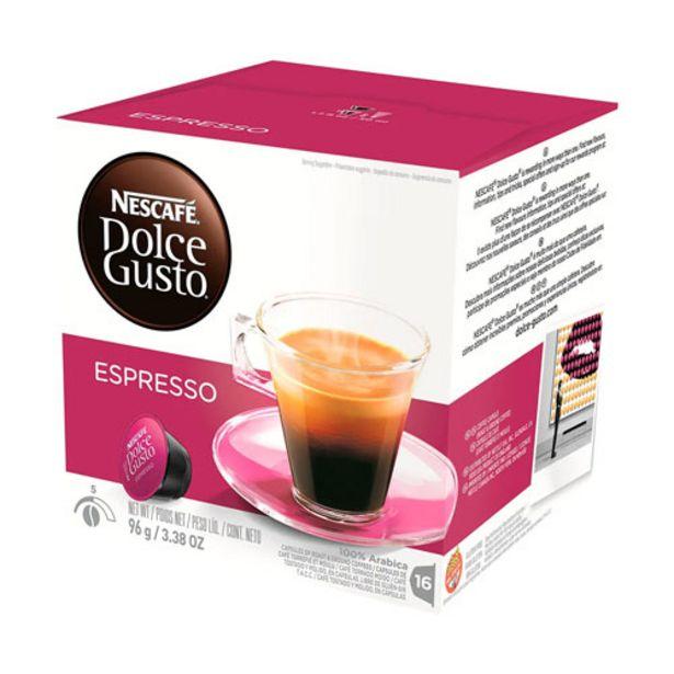 Oferta de Café Em Cápsula Nescafé Dolce Gusto Espresso 16 Cápsulas por R$27,29