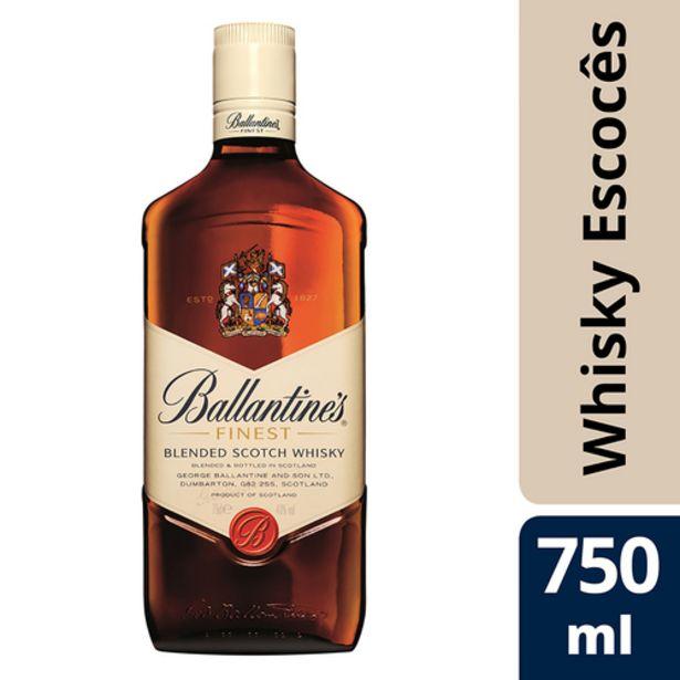 Oferta de Whisky Ballantines 750ml Finest por R$39,9