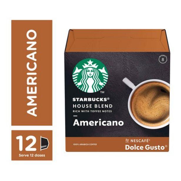 Oferta de Café Em Cápsula Starbucks Nescafé Dolce Gusto House Blend Americano 12 Cápsulas por R$26,99