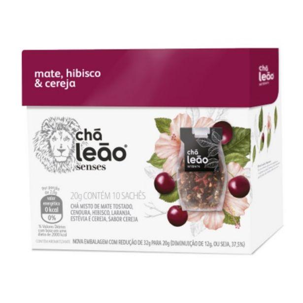 Oferta de Chá Mate Hibiscos E Cereja Leão Senses Com 10 Unidades por R$19,89