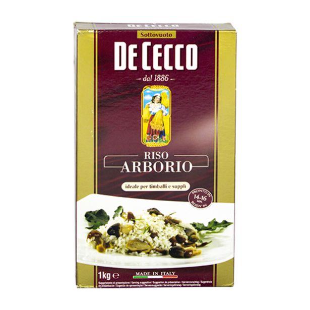 Oferta de Arroz Italiano De Cecco Arbório 1kg por R$27,79