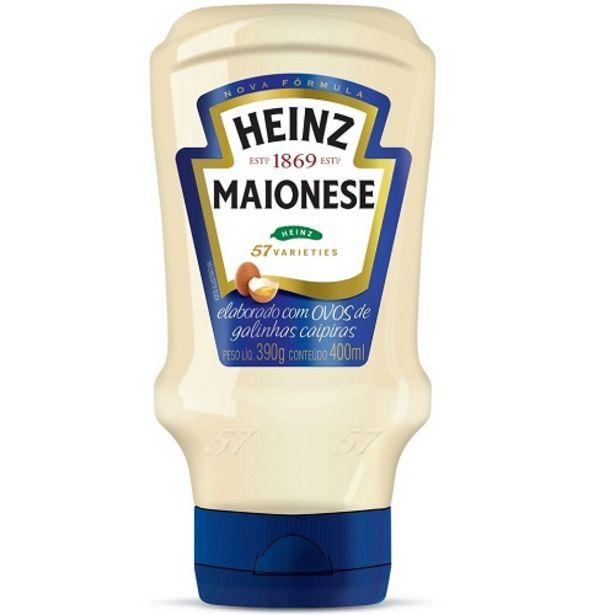 Oferta de Maionese Heinz Tradicional 400g por R$10,9