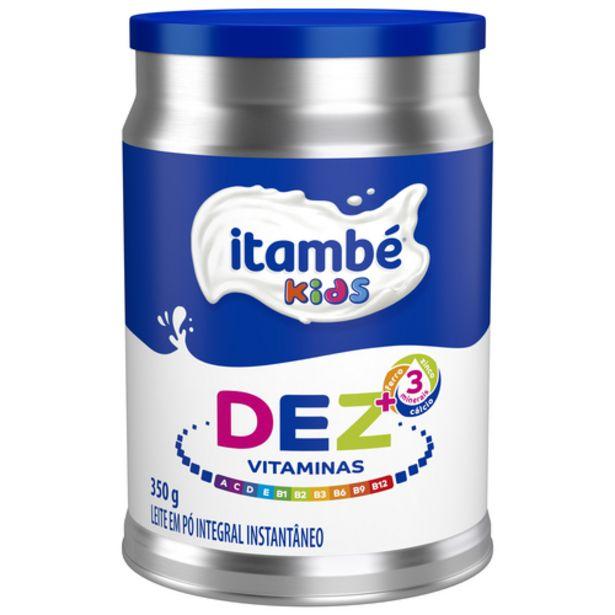 Oferta de Leite Em Pó Itambé Integral Instantâneo Kidsdez Vitaminas por R$15,89