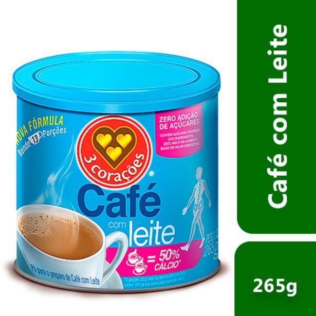Oferta de Café Com Leite Três Corações Zero Açúcar 265g por R$19,09