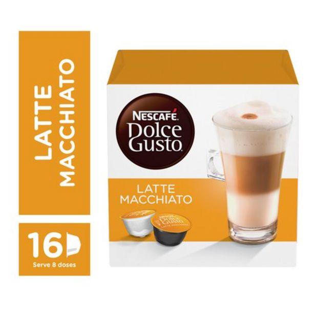 Oferta de Café Em Cápsula Nescafé Dolce Gusto Latte Macchiato 16 Cápsulas por R$27,29
