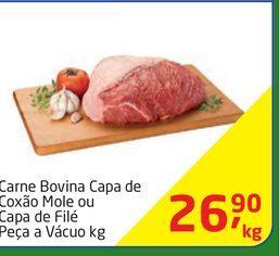Oferta de Carne Bovina Capa de Coxão Mole ou Capa de Filé Peça a Vácuo kg por R$26,9