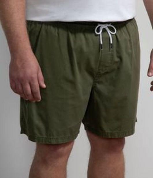 Oferta de Bermuda em Sarja com Cós Elástico - Plus Size por R$79,9