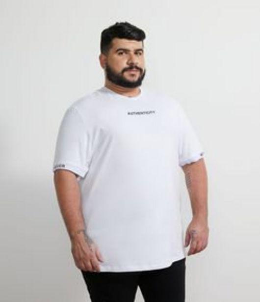 "Oferta de Camiseta Lettering ""Authencity "" - Plus Size por R$49,9"