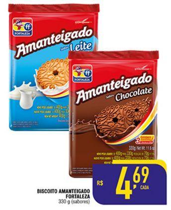 Oferta de Biscoito Amanteigado Fortaleza 330g por R$4,69