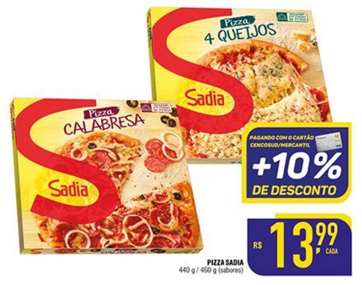 Oferta de Pizza Sadia 460g por R$13,99