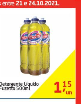 Oferta de Detergente Liquido Fuzetto 500 ml  por R$1,15
