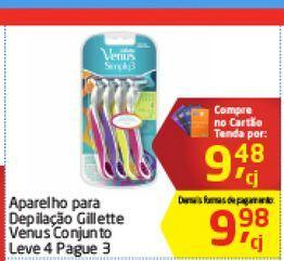 Oferta de Aparelho para Depilaçao Gillete Venus por R$9,48