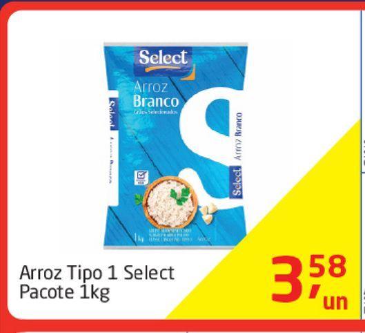 Oferta de Arroz Tipo 1 select 1 Kg  por R$3,58