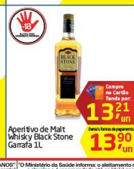 Oferta de Aperitivo de Malt Whisky Black Stone 1 L  por R$13,21