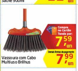 Oferta de Vassoura com Cabo Multiuso Brilhus  por R$7,59