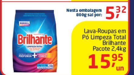 Oferta de Lava-Roupas em Pó  Brilhante 2,4 kg  por R$15,95