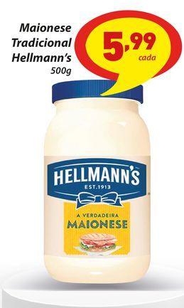 Oferta de Maionese Tradicional Hellmann's 500g por R$5,99