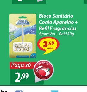 Oferta de Bloco Sanitário Coala Aparelho + Refil Fragrâncias por R$2,99