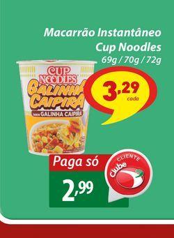 Oferta de Macarrão Instantâneo Cup Noodles por R$2,99