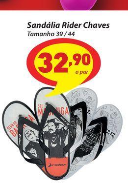 Oferta de Sandália Rider Chaves Tamanho 39 / 44 por R$32,9