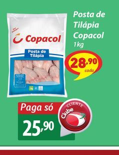 Oferta de Posta de Tilápia Copacol 1kg por R$25,9