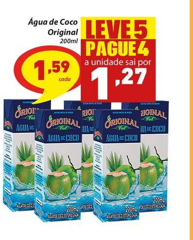 Oferta de Água de Coco Original 200ml por R$1,59