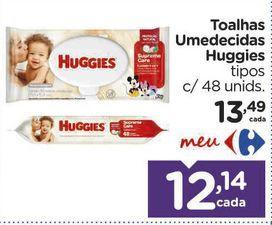 Oferta de Toalhas Umedecidas Huggies tipos c/ 48 unids. por R$12,14