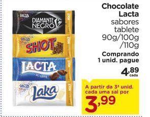 Oferta de Chocolate Lacta por R$4,89