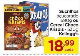 Oferta de Sucrilhos ou Cereal Choco Krispis - 530g Kellogg's por R$18,99