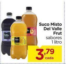 Oferta de Suco Misto Del Valle Frut sabores 1 litro por R$3,79