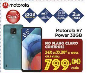 Oferta de Motorola E7 Power 32GB por R$799