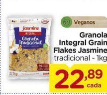 Oferta de Granola Integral Grain Flakes Jasmine tradicional - 1kg por R$22,89