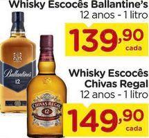 Oferta de Whisky Escocês Ballantine's 12 anos - 1 litro por R$139,9