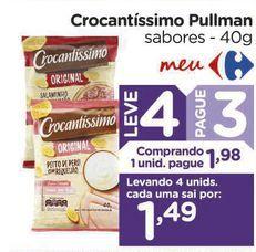 Oferta de Crocantíssimo Pullman sabores - 40g por R$1,98