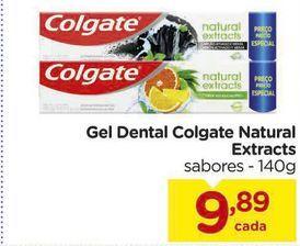 Oferta de Gel Dental Colgate Natural Extracts sabores - 140g por R$9,89
