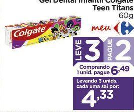 Oferta de Gel Dental Infantil Colgate Teen Titans 60g por R$6,49