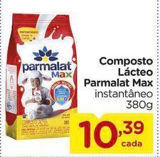 Oferta de Composto Lácteo Parmalat Max 380g por R$10,39