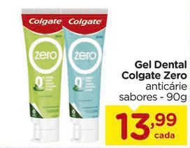 Oferta de Gel Dental Colgate Zero anticárie sabores - 90g por R$13,99
