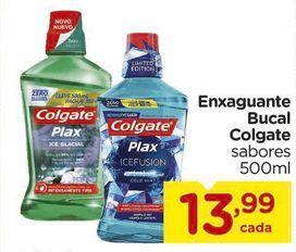 Oferta de Enxaguante Bucal Colgate sabores 500ml por R$13,99