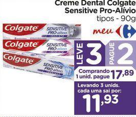 Oferta de Creme Dental Colgate Sensitive Pro-Alívio tipos - 90g por R$17,89