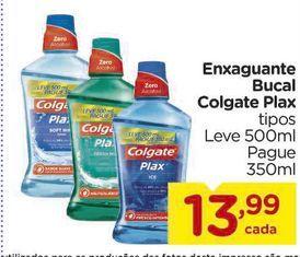 Oferta de Enxaguante Bucal Colgate Plax 350ml por R$13,99