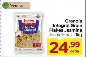 Oferta de Granola Integral Grain Flakes Jasmine tradicional - 1kg por R$24,99
