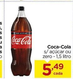 Oferta de Coca cola 1.5 Litros por R$5,49