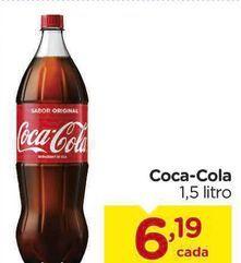 Oferta de Coca cola 1.5 L por R$6,19